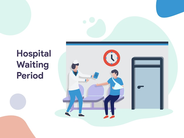 Hospital waiting period illustration