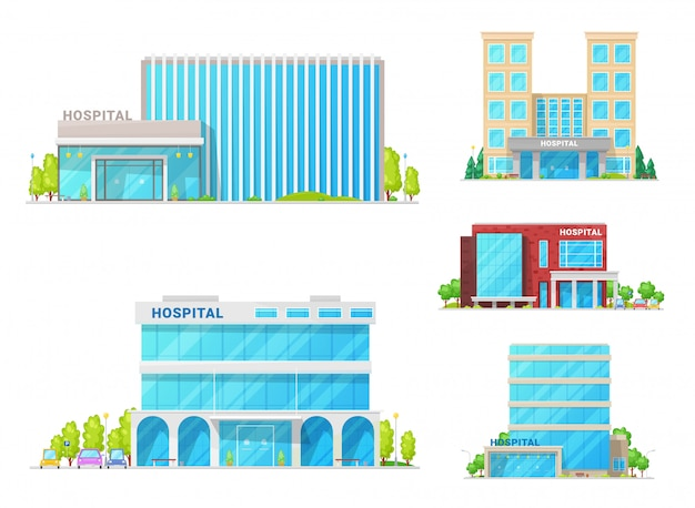 Hospitals, medical clinic and ambulance buildings
