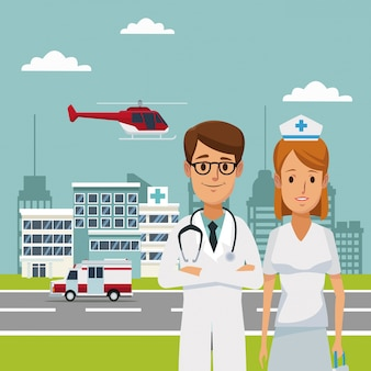 Больницы с врачами скорой помощи и вертолета