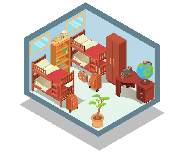 Hostel concept scene