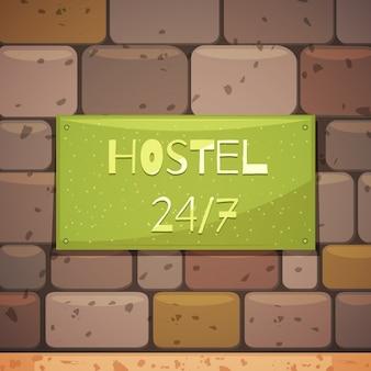 Hostel signboard