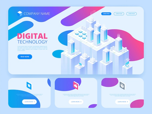 Hosting concept with cloud data storage. header template.