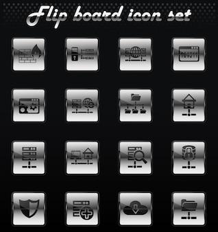 사용자 인터페이스 디자인을 위한 호스팅 공급자 벡터 플립 기계 아이콘