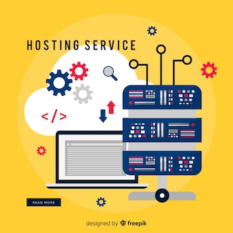 Hosting service background gears