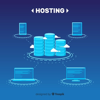 Hosting service background