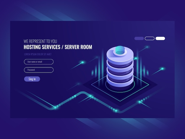 호스팅 서비스, 데이터 센터, 서버 서버 룸