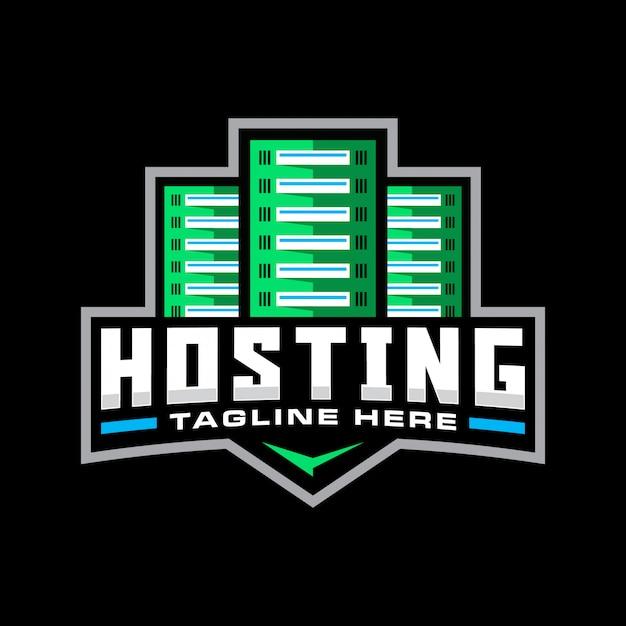 Hosting sport mascot logo template