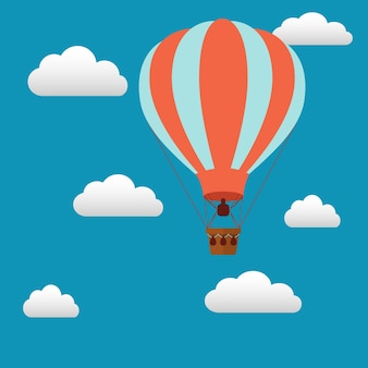 Hot air balloon background design