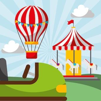 Hot air balloon carousel
