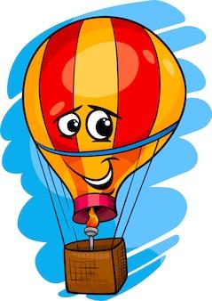 Иллюстрация мультфильма на воздушном шаре