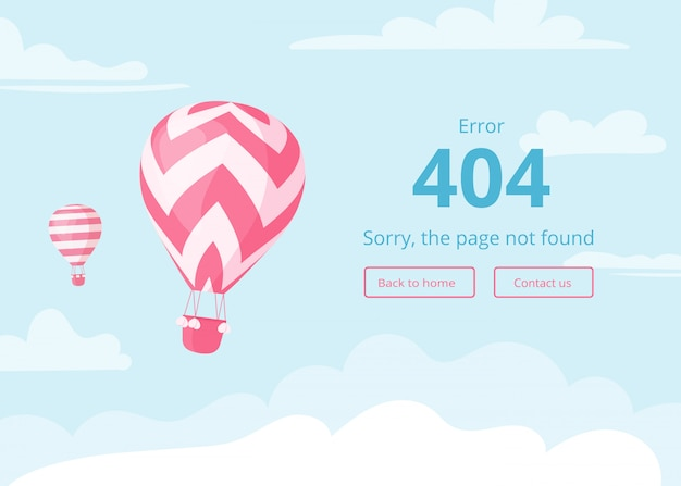 Hot air balloon error page