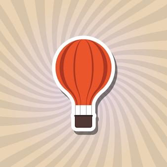 Hot air balloon icon design