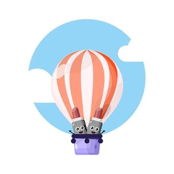 熱気球の口紅かわいいキャラクターマスコット