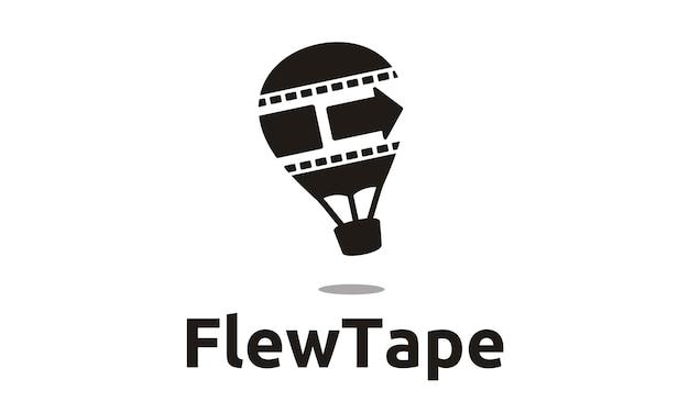 Hot air balloon movie production logo