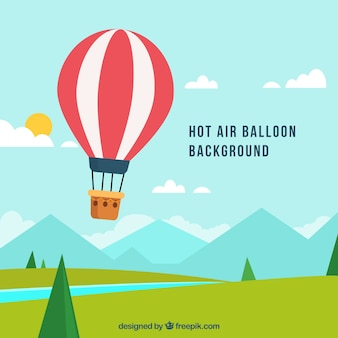 Hot air balloon travel background