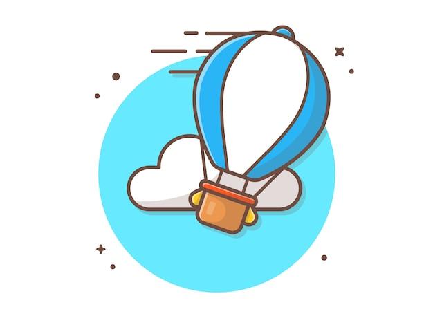 Hot air balloon vector icon illustration