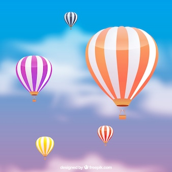 Фон с воздушными шарами в реалистичном стиле