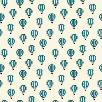 Hot air balloons pattern design