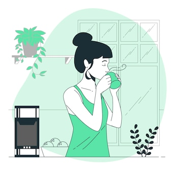 Hot beverage concept illustration