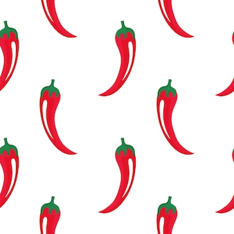 Горячая предпосылка красного перца кайенны. чили бесшовные модели. декор чили для синко де майо. мексиканская местная еда