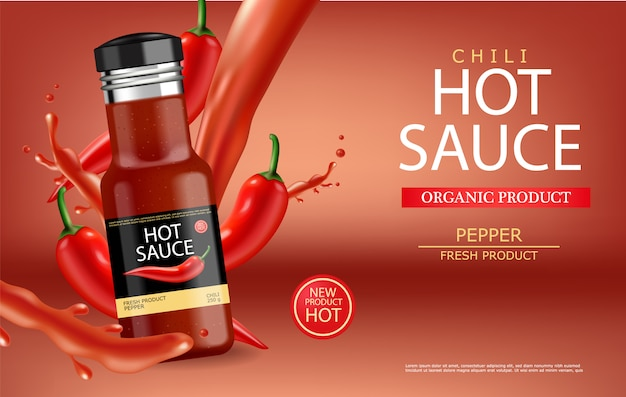 Hot chili sauce with splash