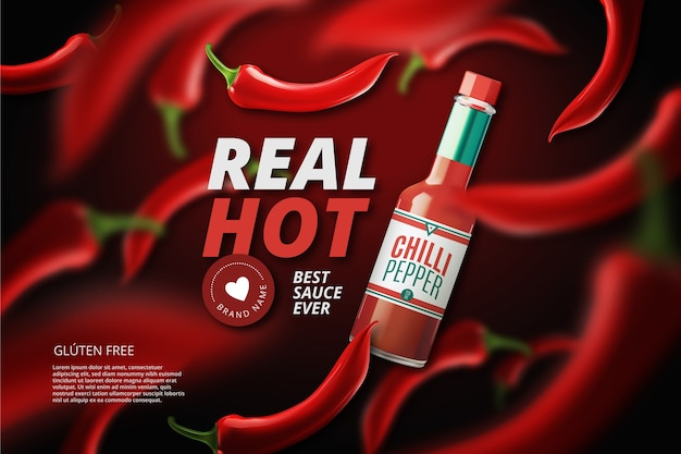 Hot chilli pepper ad
