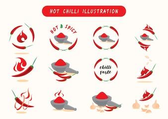 Hot chilli vector llustration