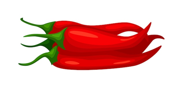Hot chilly pepper harvest heap isolated on white background