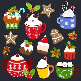 Hot chocolate and cupcake