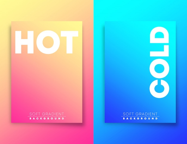 Hot and cold soft gradient texture background