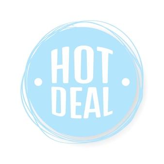 Hot deal grunge rubber stamp on white, vector illustration.
