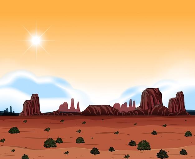 Сцена пустынной пустыни