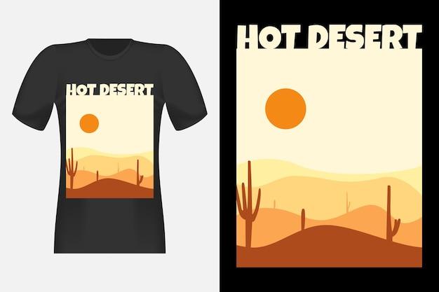 ホットデザートヴィンテージレトロtシャツデザイン