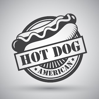 Hot dog badge