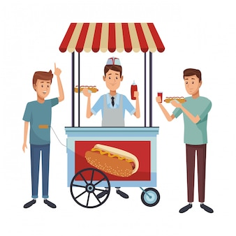 Hot dog booth business