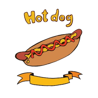 Hot dog doodle