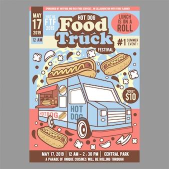 Hot dog food truck festival