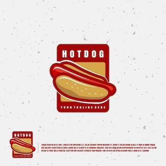 Хот-дог иллюстрации логотип