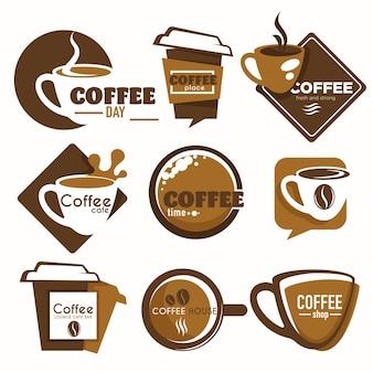 뜨거운 음료 컵 커피숍 또는 하우스 격리 아이콘 테이크아웃 벡터 에너지 음료 양조 카페 또는 바, 레스토랑 또는 비스트로 덮개 엠블럼 또는 로고가 있는 신선한 유기농 콩 종이 용기