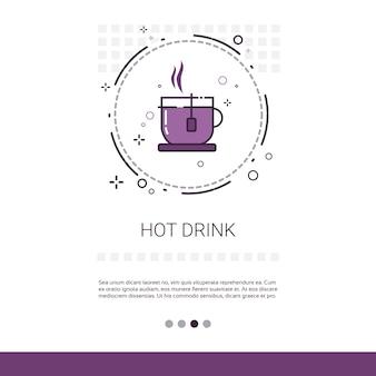 Hot drink restaurant cafe public sign banner