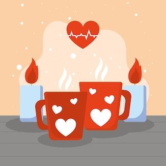 뜨거운 음료와 마음