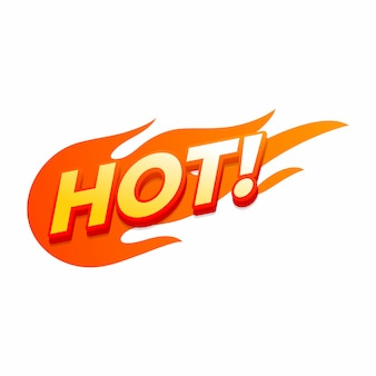 Hot fire sign, promotion fire banner.