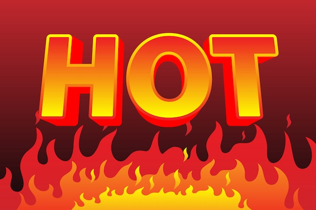 Hot fire text effect, editable text