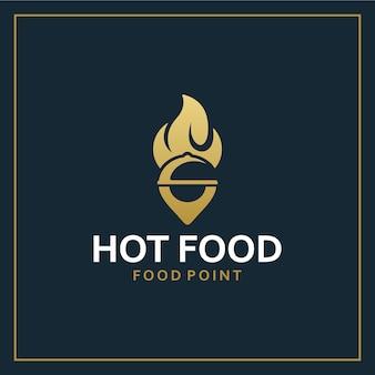 Hot food , location ,logo design inspiration
