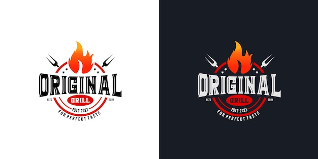 Горячий гриль логотип