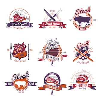 Hot grill steak labels