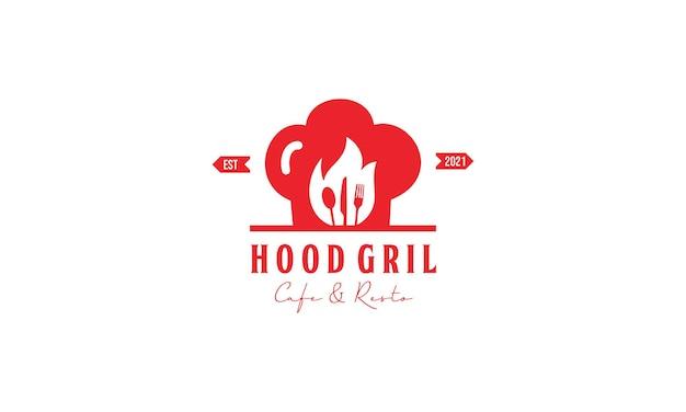 Hot grill vintage design