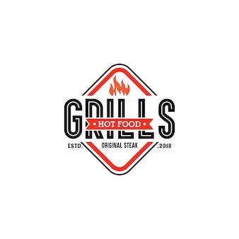 Шаблоны логотипов hot grill