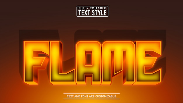 Hot iron flame editable text effect