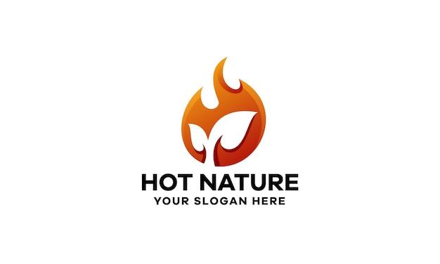 Hot nature gradient logo template